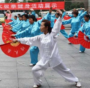 Histoire du Tai Chi - Formes modernes - Tai Chi style Yang eventail