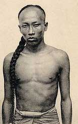 Tenue Tai Chi - Homme chinois portant la natte mandchoue