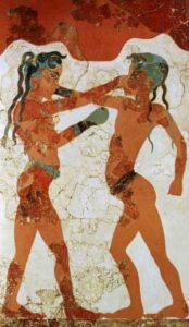 Wushu - Fresque Minoenne de Santorin - Arts martiaux antiquité