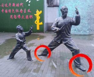 TaijiQuan-style-Chen-Chenjiagou-Statues-Pieds-Ouverts