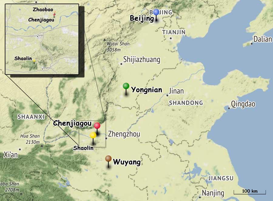 Chenjiagou-Yongnian-Yang-Luchan-Wuyang-Pekin